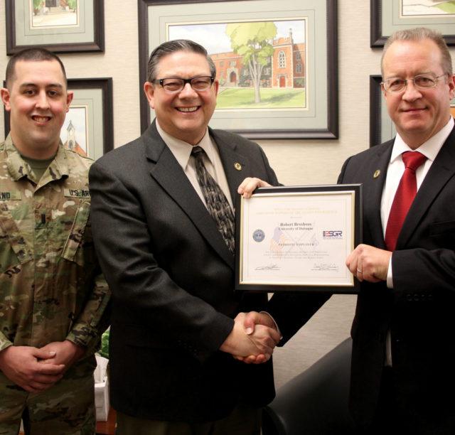 University Of Dubuque Dean Of Admission Receives Patriot